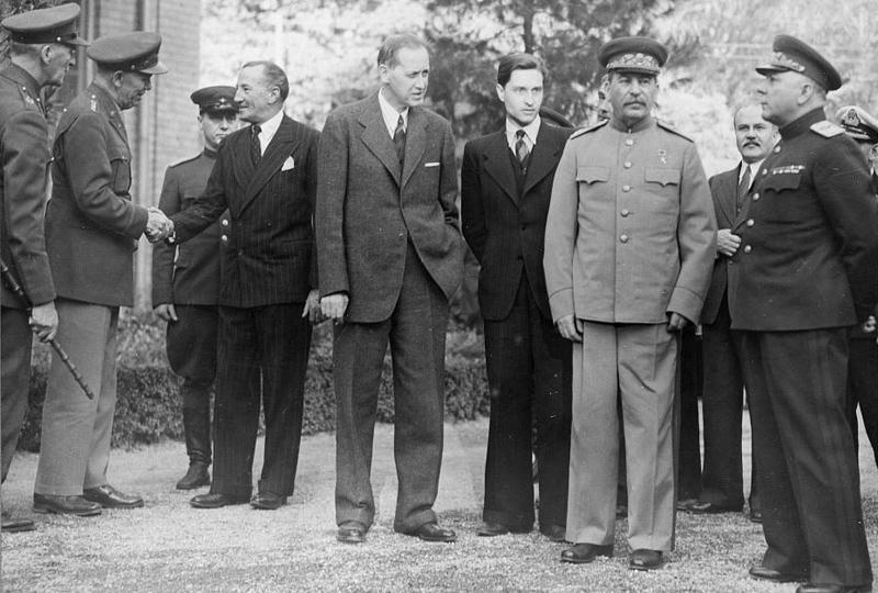 سران متفقین در کنفرانس تهران